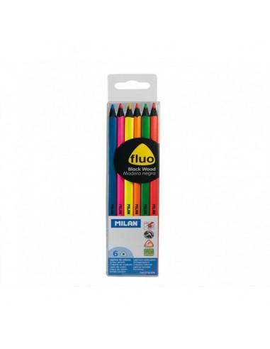 Lot de 6 crayons MILAN