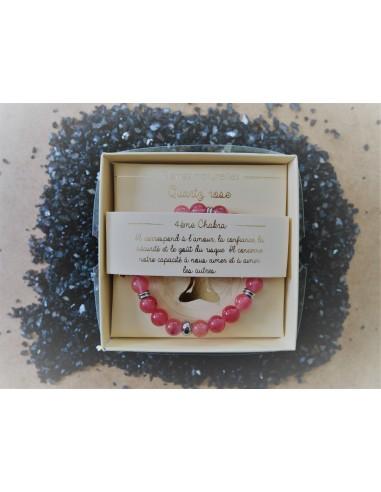 bracelet : Quartz Rose - Pierres...