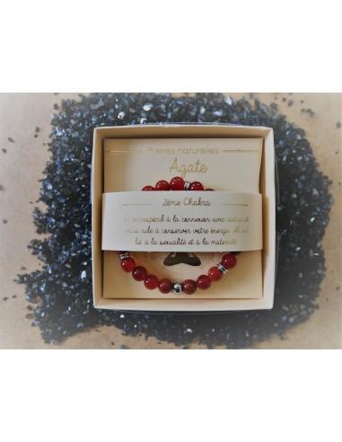 Bracelet : Agate - Pierres Naturelles