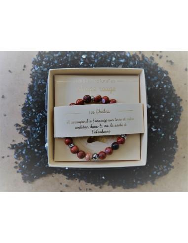 Bracelet : Jaspe rouge - Pierres...